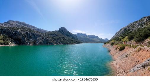 Small lake Torrent de Gorg Blau in Mallorca, Spain