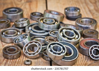 small and large bearings