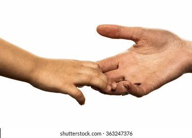 small and large hand