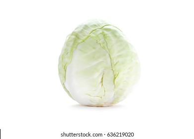 small light cabbage isolated on white background