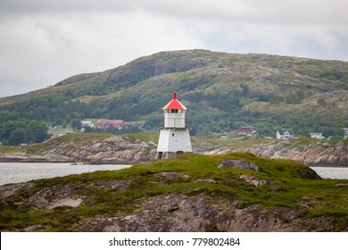 Small lighthouse in Trondelag county in Norway.