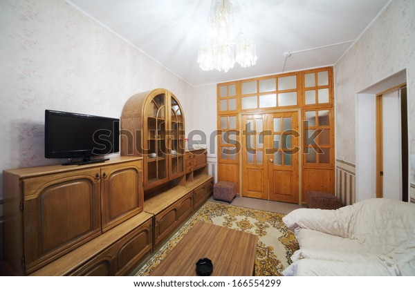 Small Living Room Sofa Cabinet Carpet | Interiors Stock Image