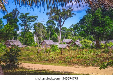 Small Malagasy village in tropics, Madagascar