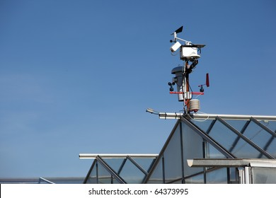 Small meteo station in an industrial farm