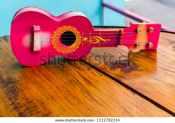 Small Mexican Guitar Full Body On Stock Photo (Edit Now