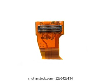 Small microcontroller of mobile phone with integrated circuit on white background