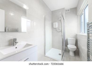 Small minimalistic bathroom in a house