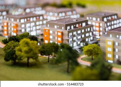 Small model of blocks of flats