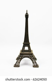small model of eiffel tower in paris