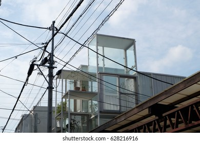 a small modern house in  Tokyo designd by Sou Fujimoto