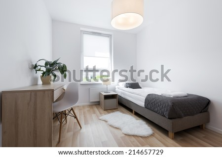 Small Modern Sleeping Room Interior Design Stock Photo Edit Now Magnificent Small Modern Living Room Design Style