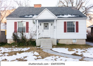 Small, modest starter home in small town USA