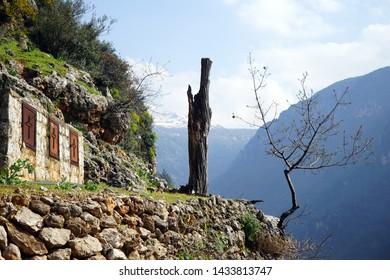 Small monastery house in Kadisha valley, Lebanon