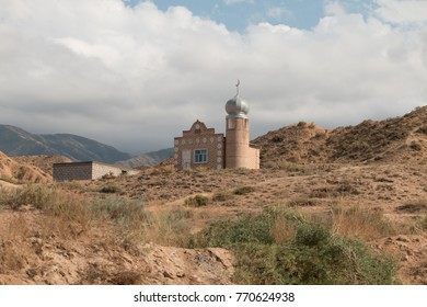 Small mosque at holy spring, Issyk Kul, Kyrgyzstan, Central Asia