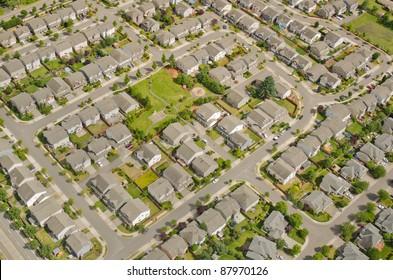 Small neighborhood in urban area