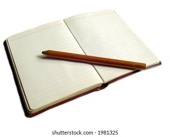 Small notebook with a pencil