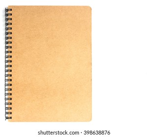 Small notepad on white background