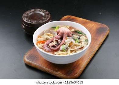 small octopus Noodle Soup