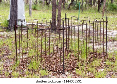 Small old unmarked grave at Watsonville in Queensland, Australia