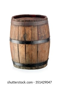 Small old wine barrel