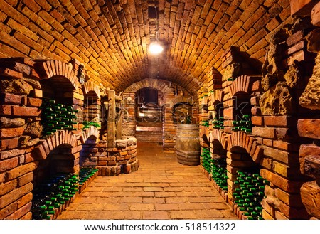 foto stock de small old wine cellar many full editar agora 518514322 shutterstock. Black Bedroom Furniture Sets. Home Design Ideas