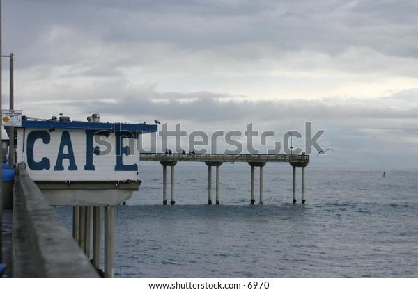a small café on the dock