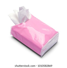 Small Open Tissue Pack Isolated on a White Background.