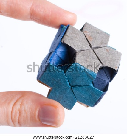 Small Origami Dice Stock Photo Edit Now 21283027 Shutterstock