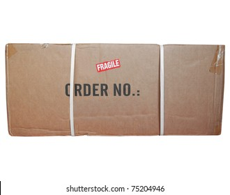 A small packet or parcel for mail shipping isolated over white