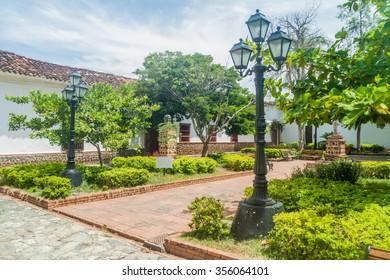 Small park in Santa Fe de Antioquia, Colombia.