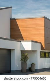 Small part of an anonymous house built in a modern style