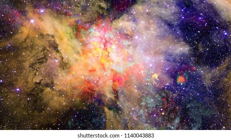 Small part of an infinite star field of space in the Universe. Elements of this image furnished by NASA.