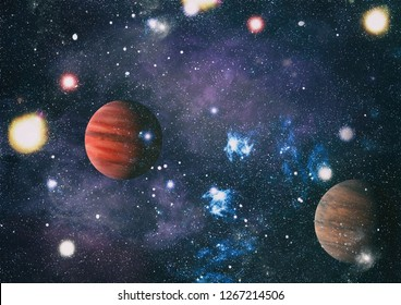 "Small part of an infinite star field of space in the Universe. ""Elements of this image furnished by NASA""."