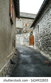 Small path between houses in a small village in the Pyrenes
