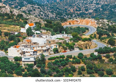a small and peaceful village hidden in the mountains, Crete Island, Greece