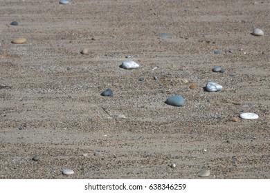 small pebbles on beach