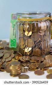 a small pension, savings