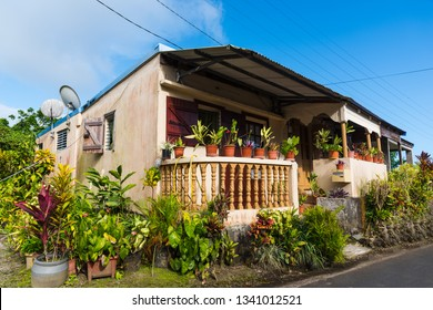 Small picturesque house in the lesser Antilles, Caribbean
