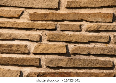 Small pieces of brick in background