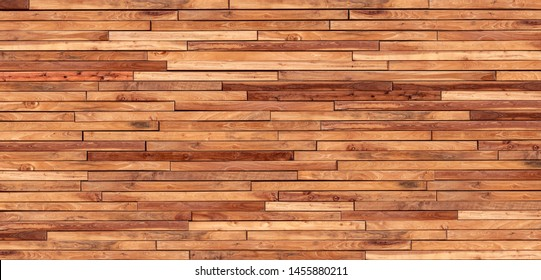 Small pieces of pine Arranged together into a beautiful wooden wall For interior decoration of buildings or floors and web backgrounds,Old wood wall texture , wooden background Banner