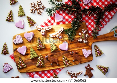 Small Pieces Traditional Czech Christmas Cookie Stock Photo Edit