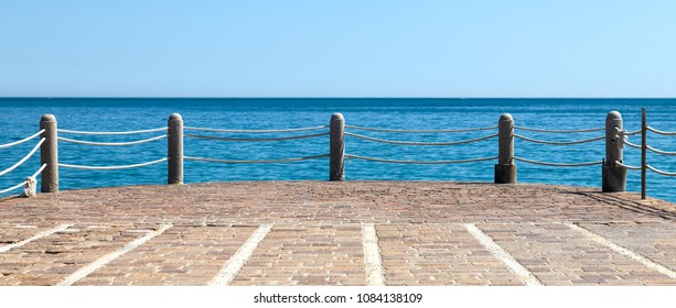 small pier on the sea
