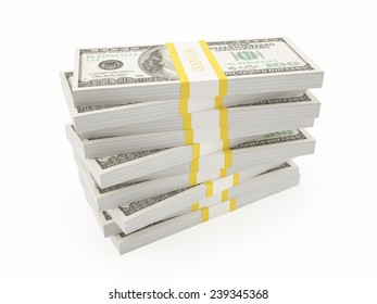 small pile of dollars