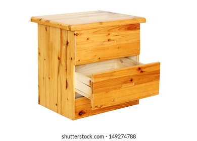 Amazing Small Pine Chest Of Drawers With The Bottom Drawer Open