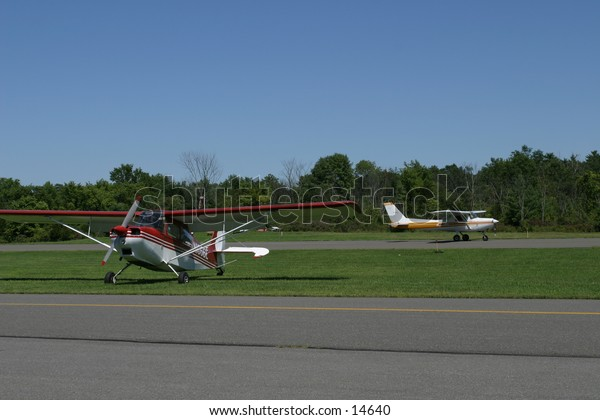 small planes on runway