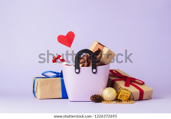 Small Plastic Bag Shopping Gift Boxes Stock Photo Edit Now 1226372695
