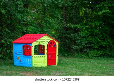 a small plastic house of all colors
