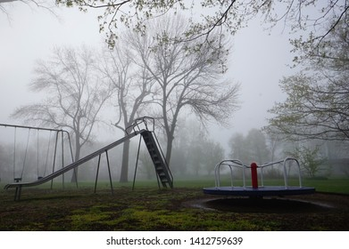 Small Playground on a Foggy Day