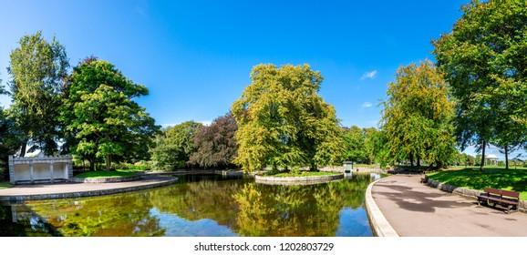 A small pond in Duthie park, autumn 2017, Aberdeen, Scotland
