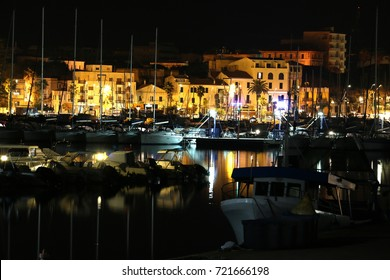 Small port by night